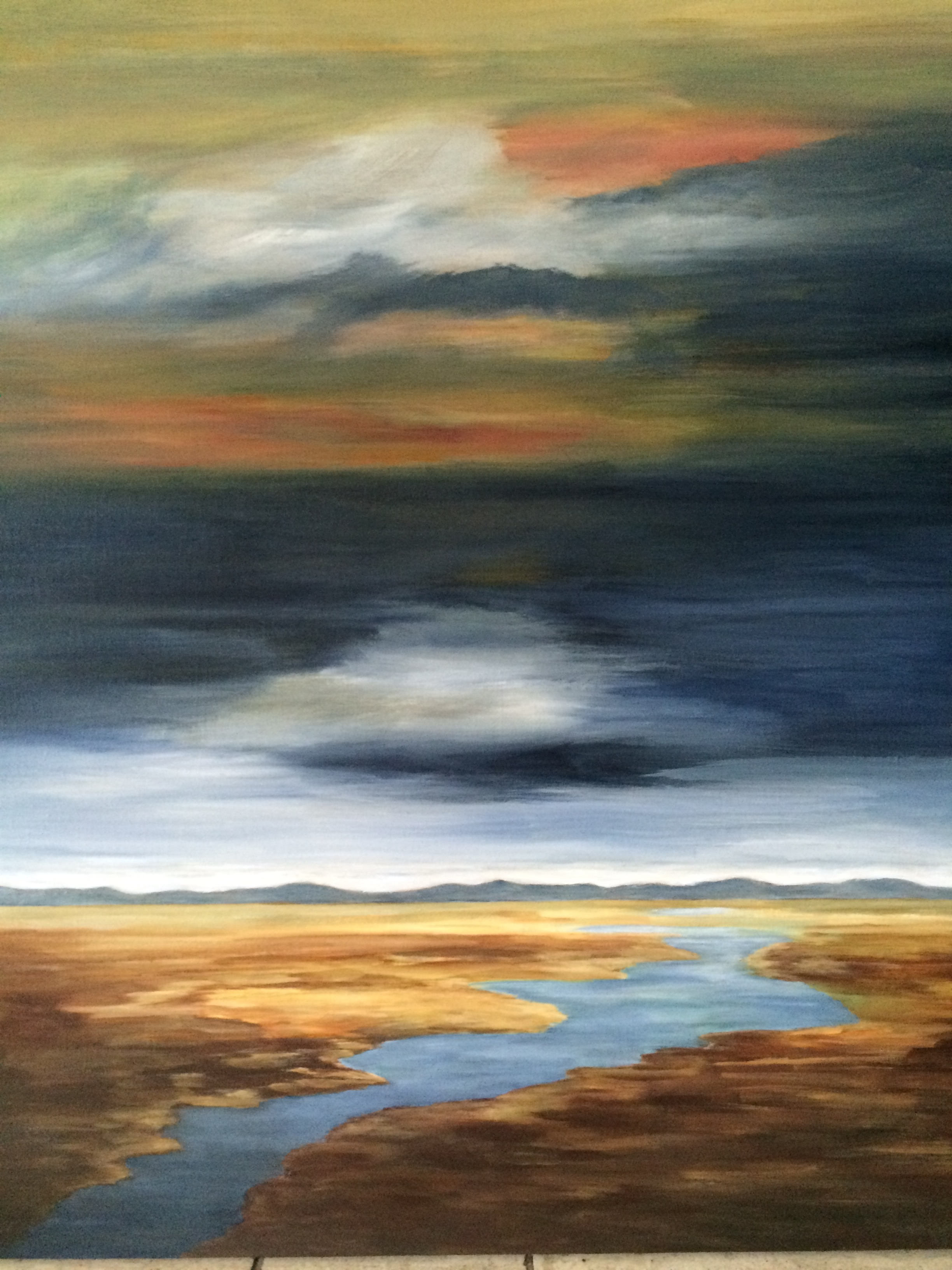 Delta Dawn, Acrylic   SOLD